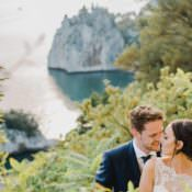 Romantic Vibrant Pink Wedding in Trieste