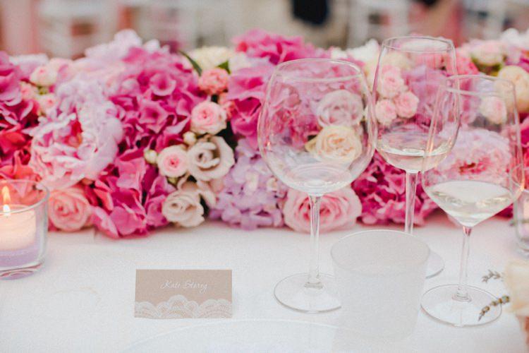 Centre Piece Place Settings Candles Tealights Glassware Romantic Vibrant Pink Wedding Trieste http://www.emotionttl.com/en/home/