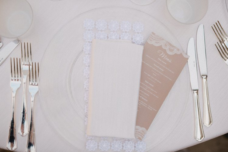 Menu Place Setting Table Cutlery Romantic Vibrant Pink Wedding Trieste http://www.emotionttl.com/en/home/