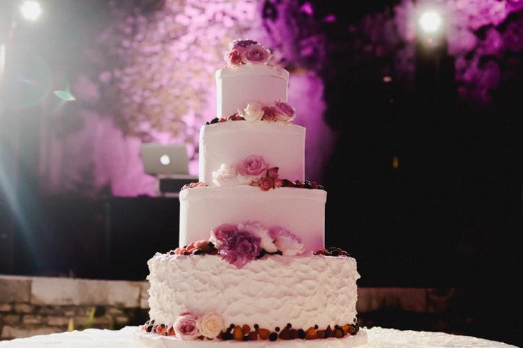 Cake Flowers Romantic Vibrant Pink Wedding Trieste http://www.emotionttl.com/en/home/