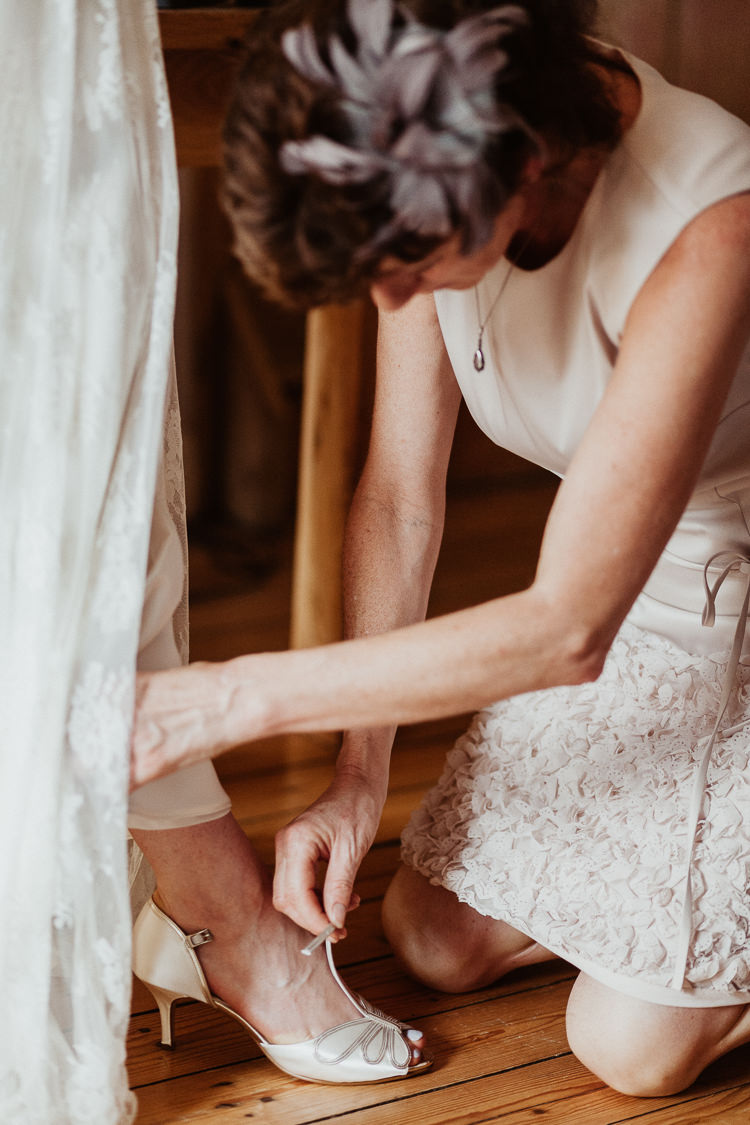 Cream Gold Peep Toe T Bar Shoes Bride Bridal Beautifully Relaxed Outdoorsy Barn Wedding http://www.caitlinandjones.co.uk/