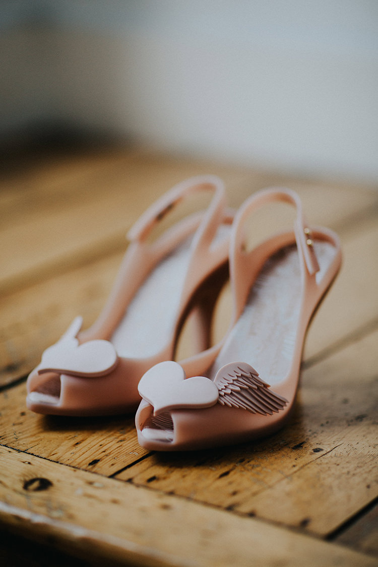 Heart Wing Peep Toe Shoes Bride Bridal Casual City Stylish Pub Wedding http://www.ireneyapweddings.com/