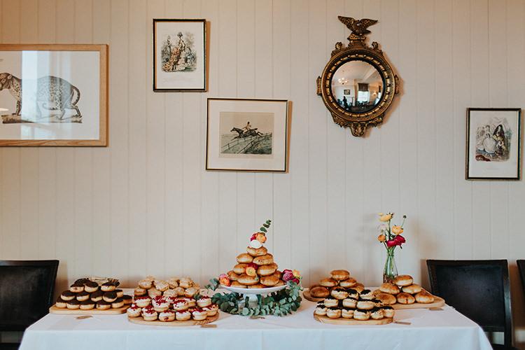 Cake Table Doughnut Donut Casual City Stylish Pub Wedding http://www.ireneyapweddings.com/
