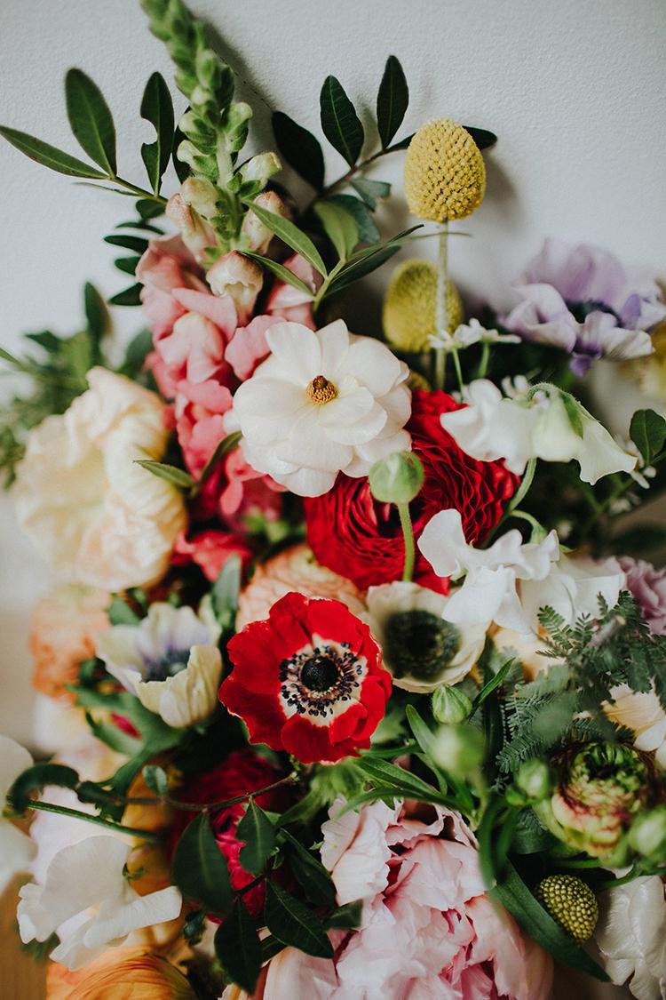 Flowers Bouquet Colourful Summer Bride Bridal Casual City Stylish Pub Wedding http://www.ireneyapweddings.com/