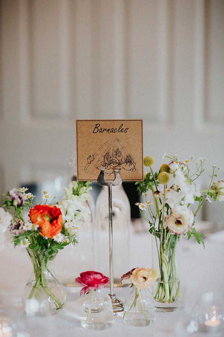 Crab Sea Seaside Table Names Casual City Stylish Pub Wedding http://www.ireneyapweddings.com/