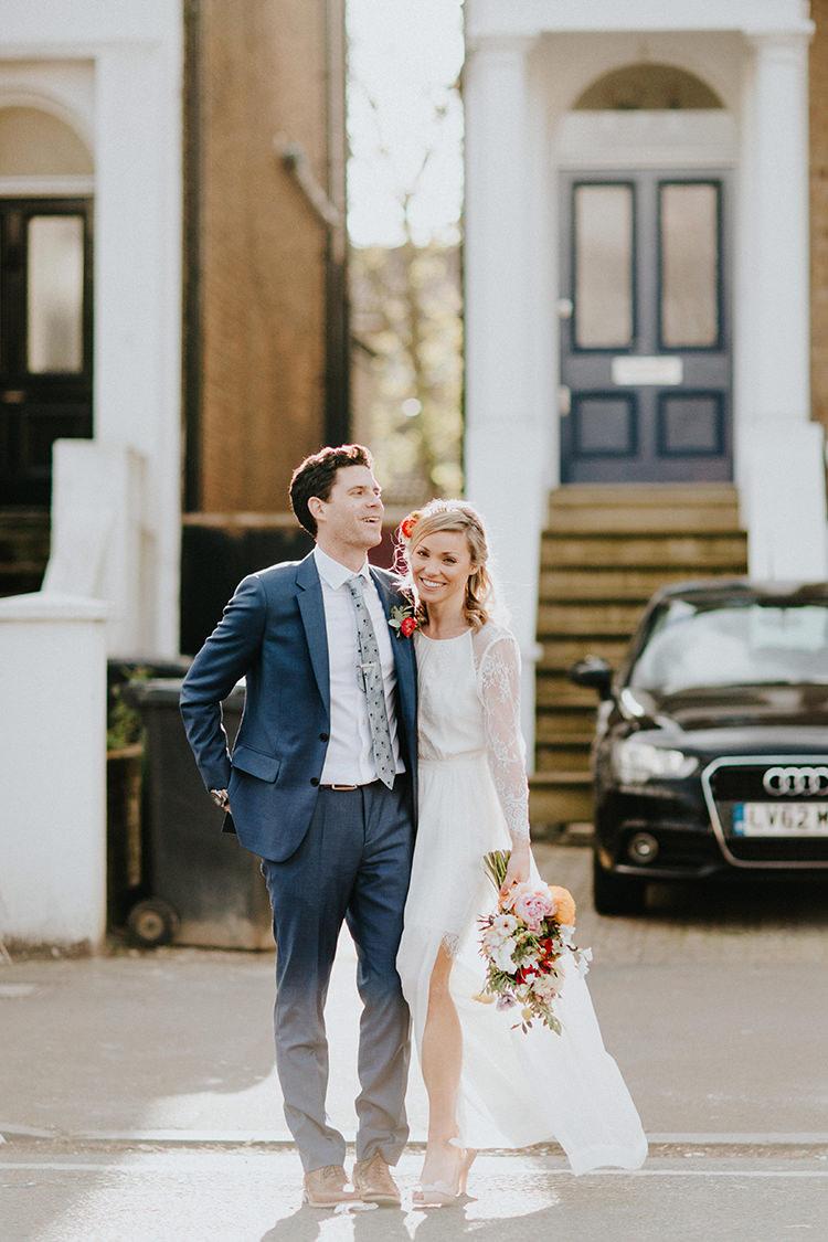 Lace Sheer Sleeves Dress Bride Bridal Gown Temperley Casual City Stylish Pub Wedding http://www.ireneyapweddings.com/