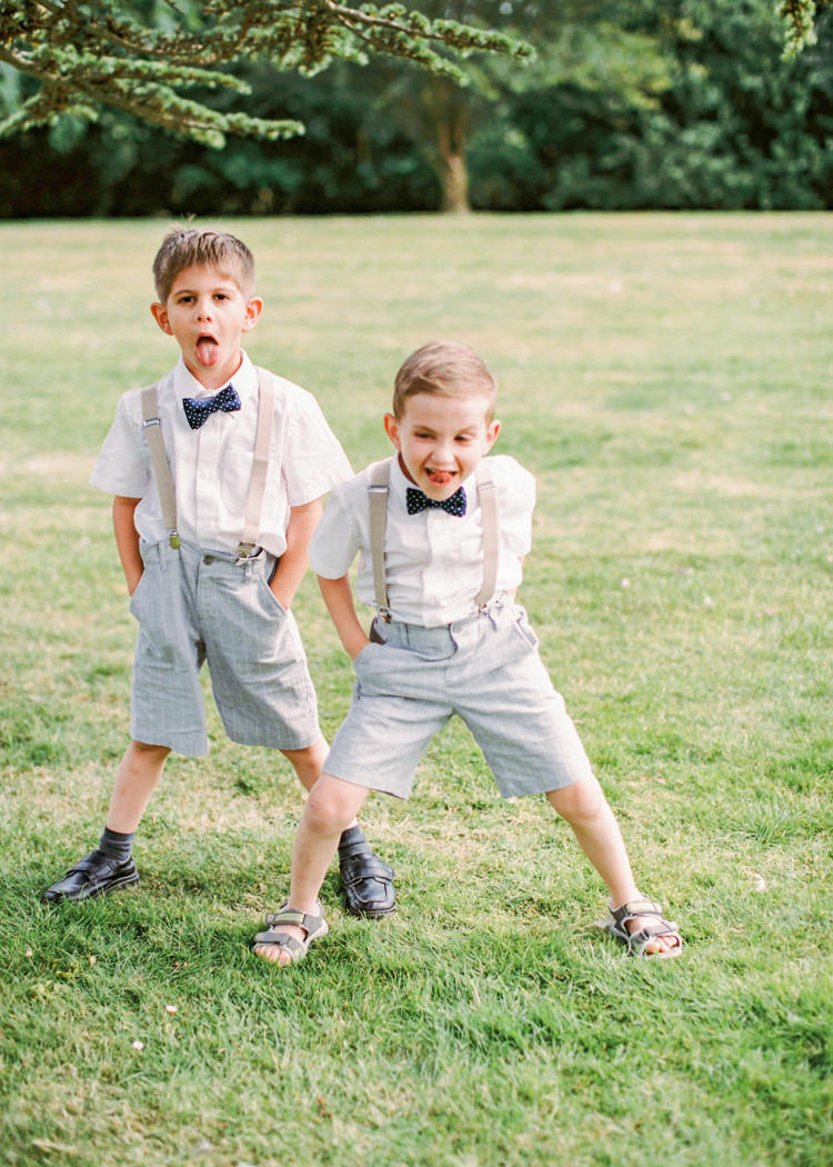 Bow Tie Braces Shorts Page Boys Whimsical Luxury Summer Garden Party Wedding https://www.wookiephotography.com/