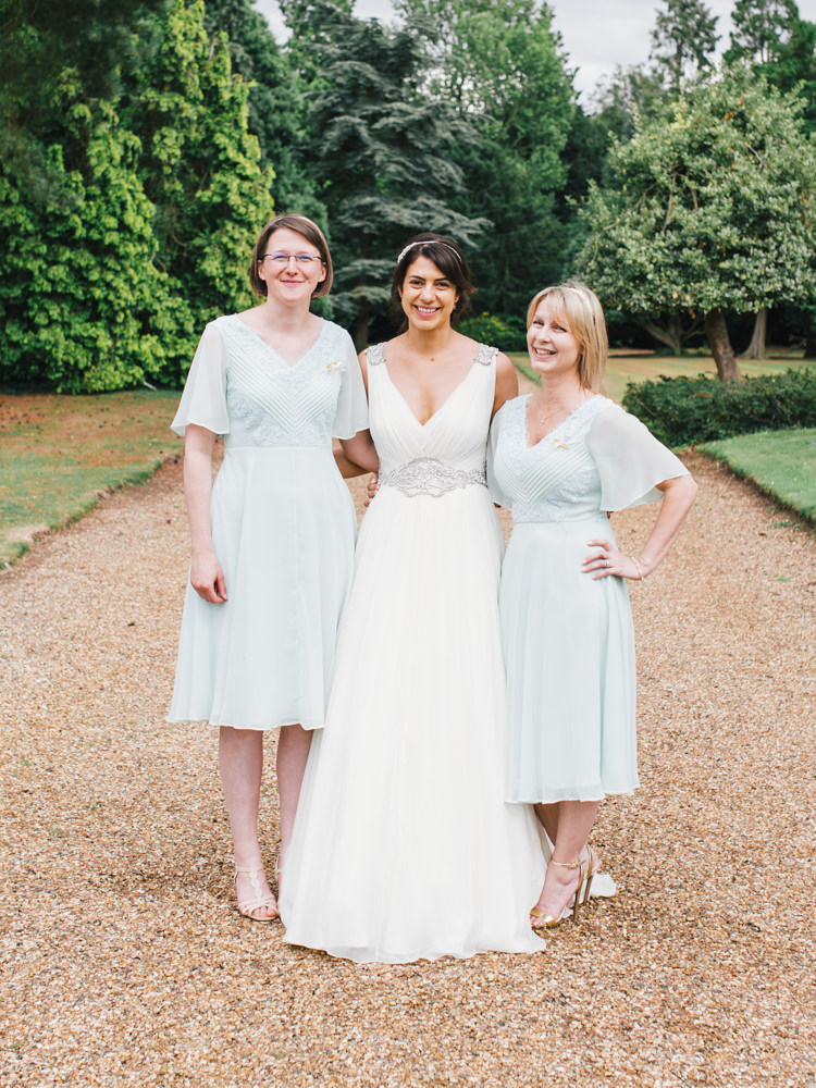 Pale Blue Bridesmaid Dresses Whimsical Luxury Summer Garden Party Wedding https://www.wookiephotography.com/