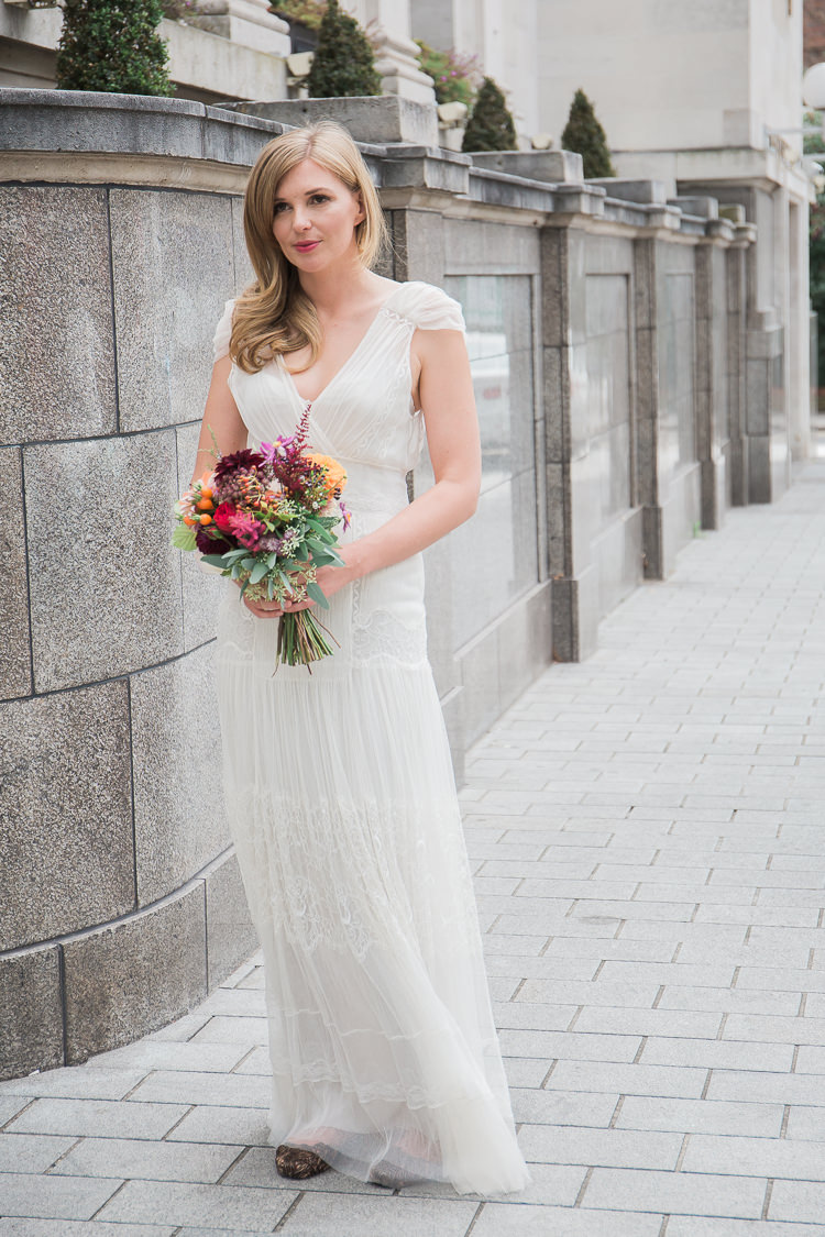 Alberta Ferretti Tulle Lace Sheer Light Dress Gown Bride Bridal Intimate Elegant Two Day City Wedding http://siobhanhphotography.com/