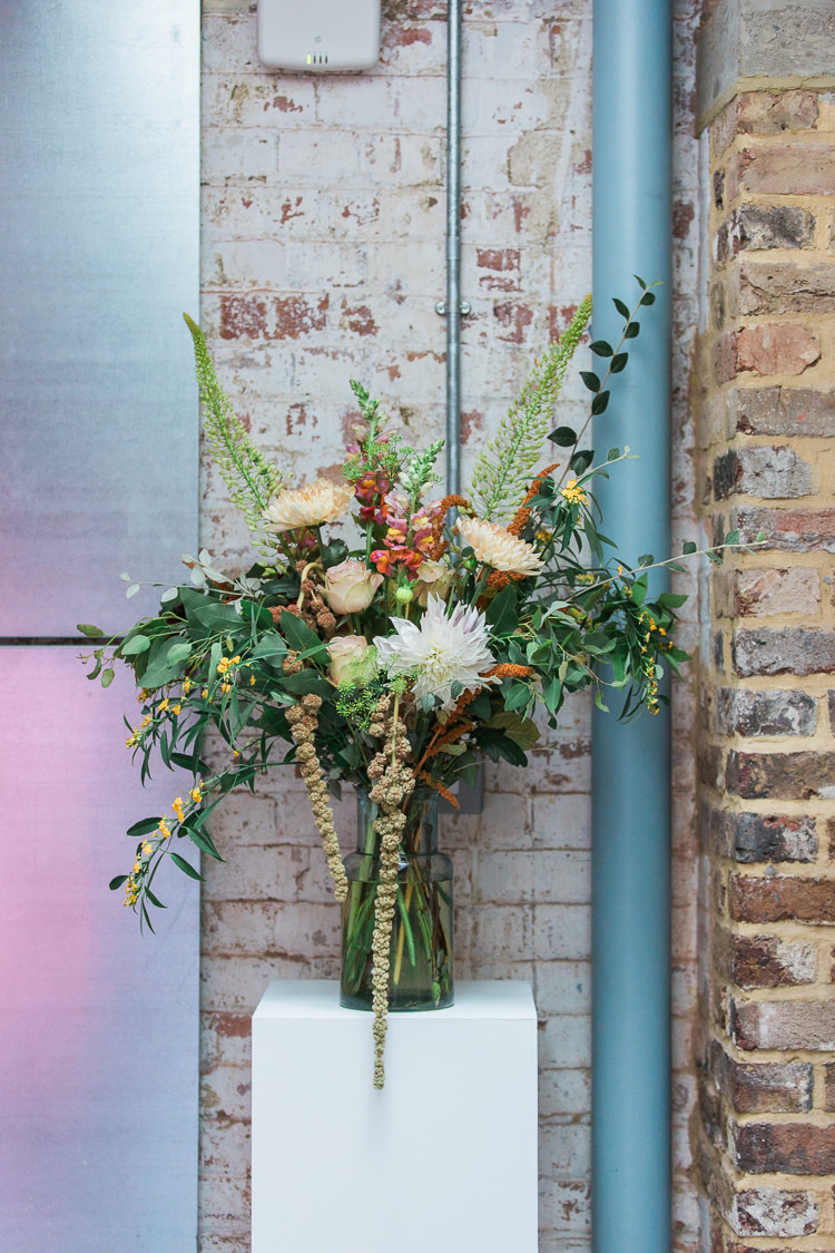 Flowers Large Arrangement Decor Intimate Elegant Two Day City Wedding http://siobhanhphotography.com/