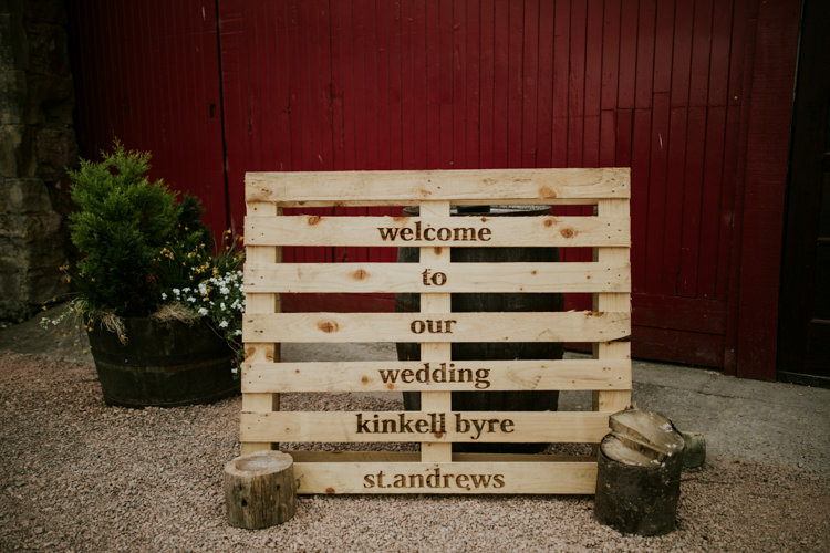 Pallet Wooden Sign Welcome Magical Blush Pink Gold Barn Wedding http://www.johnjohnstonphotography.co.uk/