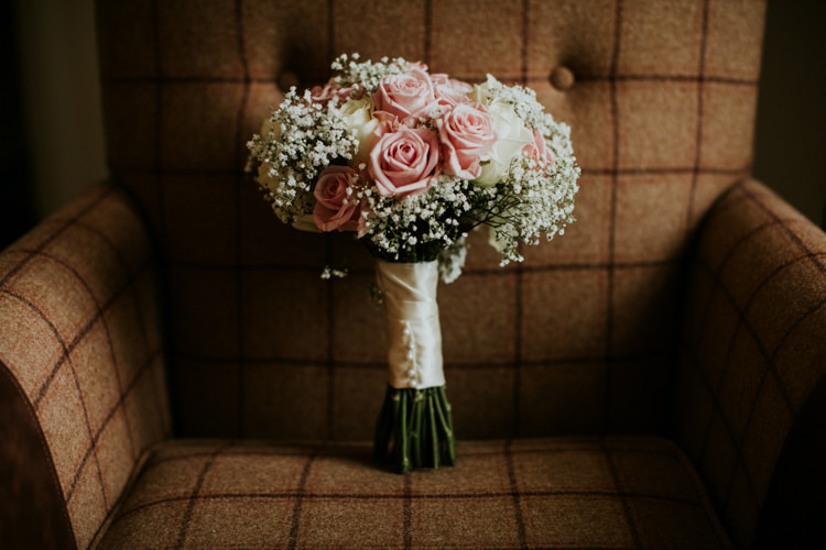 Rose Gyp Gypsophila Baby Breath Bouquet Flowers Magical Blush Pink Gold Barn Wedding http://www.johnjohnstonphotography.co.uk/