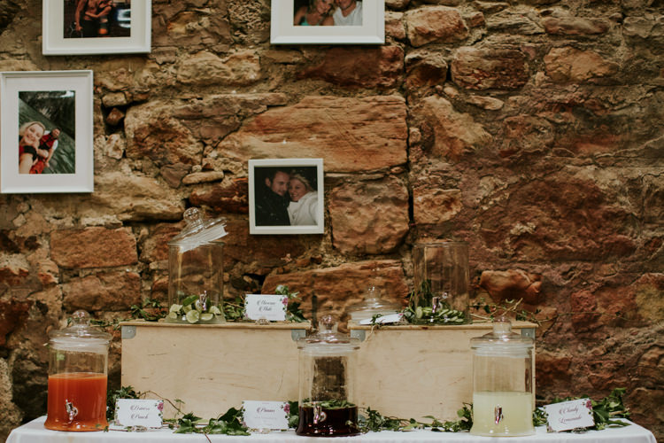 Drink Dispensers Magical Blush Pink Gold Barn Wedding http://www.johnjohnstonphotography.co.uk/