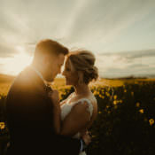 Magical Blush Pink & Gold Barn Wedding