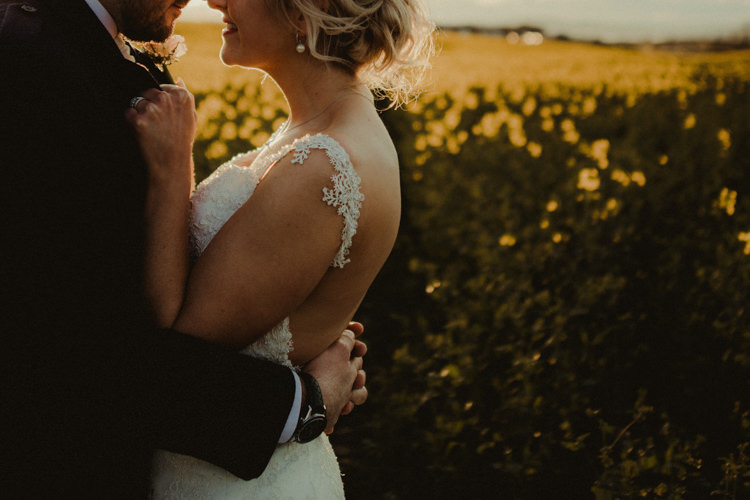 Backless Dress Gown Bride Bridal Lace Magical Blush Pink Gold Barn Wedding http://www.johnjohnstonphotography.co.uk/