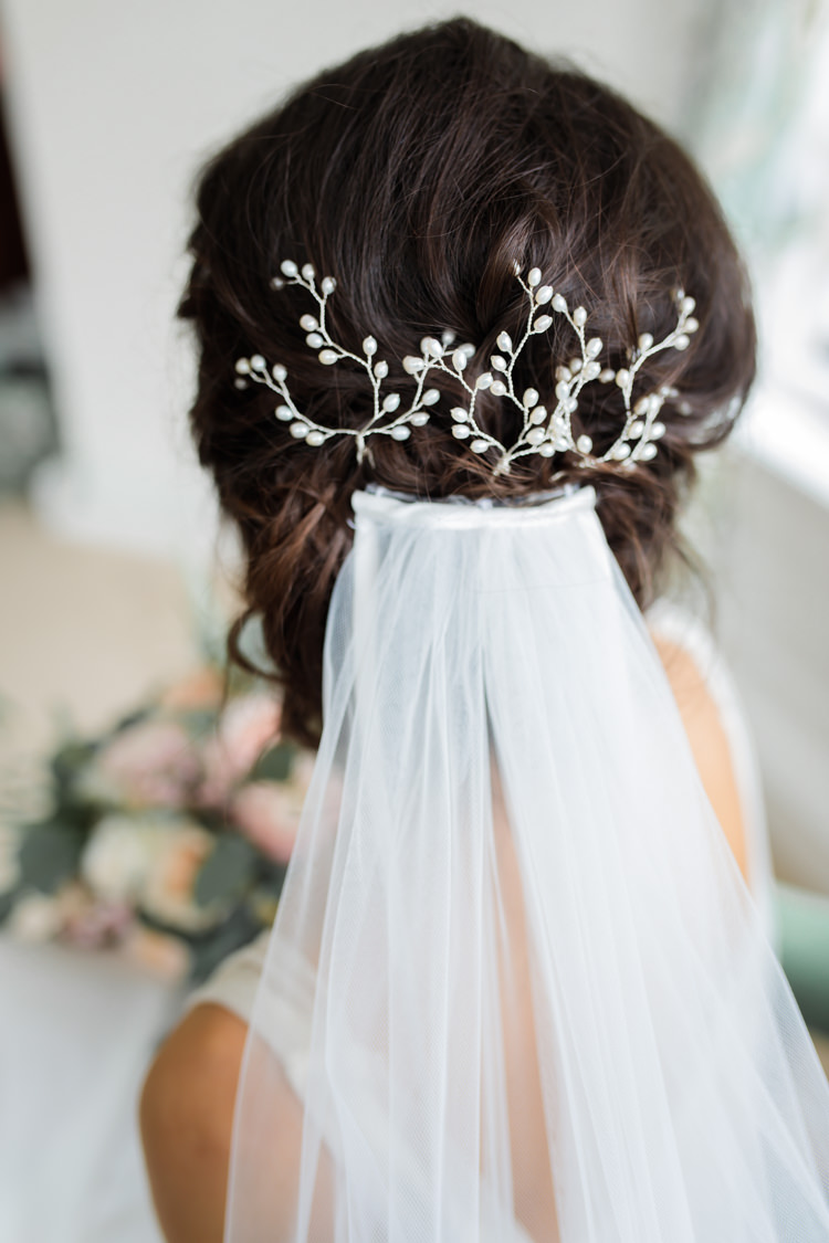 Hair Accessory Veil Bride Bridal Style Pretty Soft Country Garden Pastel Wedding Ideas https://www.ellielouphotography.co.uk/