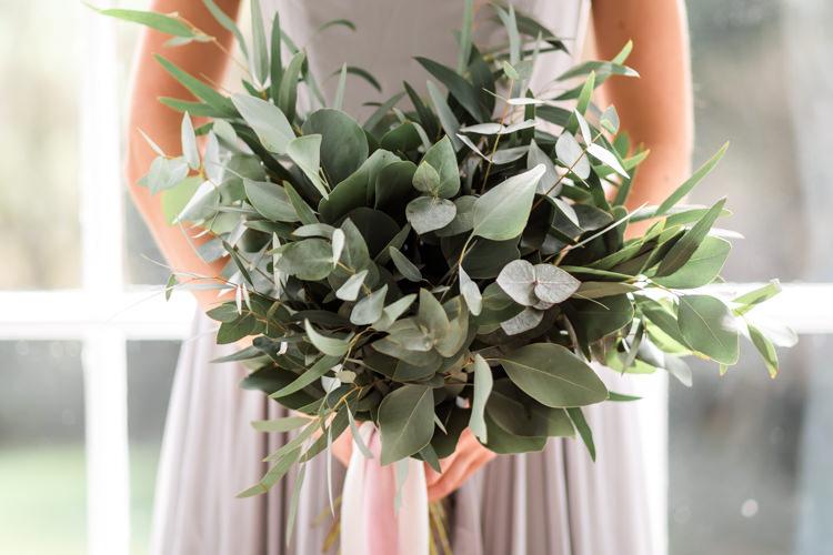 Eucalyptus Bouquet Ribbon Flowers Bride Bridal Pretty Soft Country Garden Pastel Wedding Ideas https://www.ellielouphotography.co.uk/