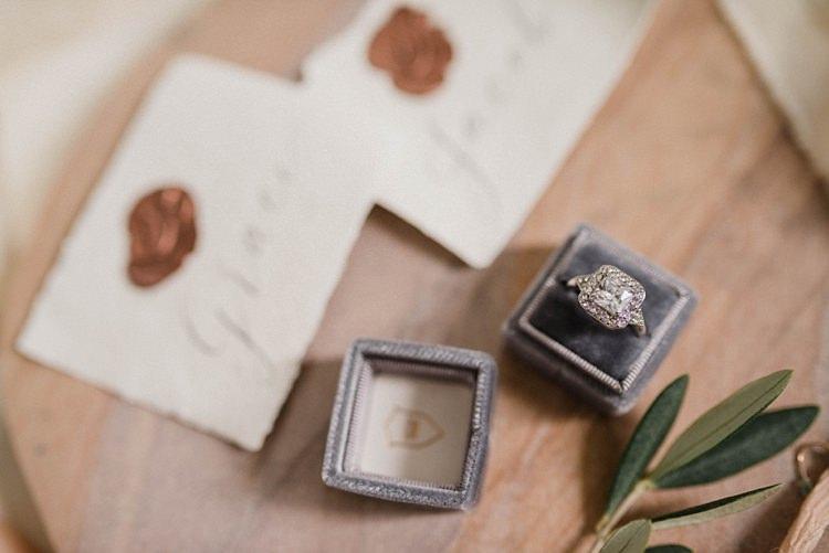 Engagement Ring Diamond Vintage Ring Box Modern Botanical Copper Geometric Wedding Ideas http://hannahmcclunephotography.com/