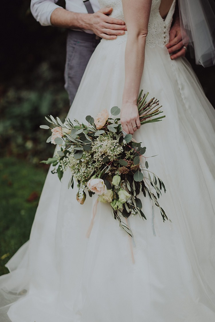 Bouquet Flowers Greenery Foliage Pink Bride Bridal Modern Botanical Copper Geometric Wedding Ideas http://www.kategrayphotography.com/