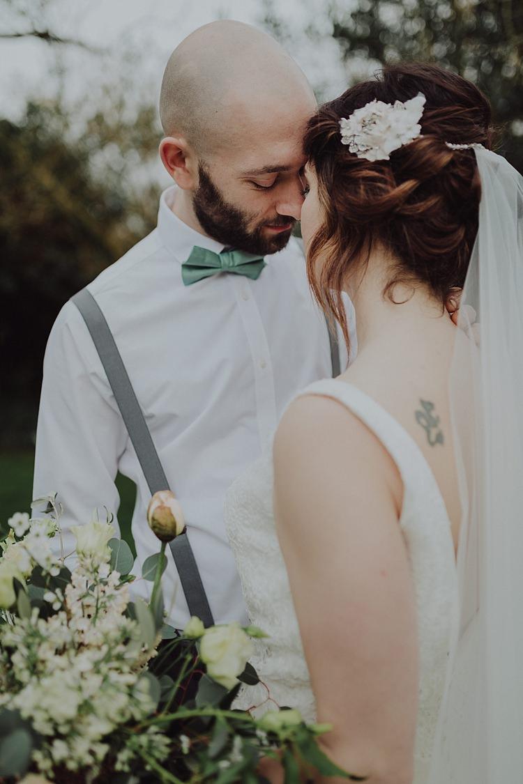Bow Tie Braces Groom Modern Botanical Copper Geometric Wedding Ideas http://www.kategrayphotography.com/