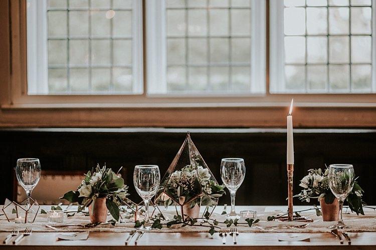 Modern Botanical Copper Geometric Wedding Ideas http://lolarosephotography.com/