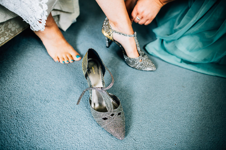Glitter Silver Shoes Bride Bridal Rustic Relaxed Seasonal Floral Barn Wedding https://www.faircloughphotography.co.uk/