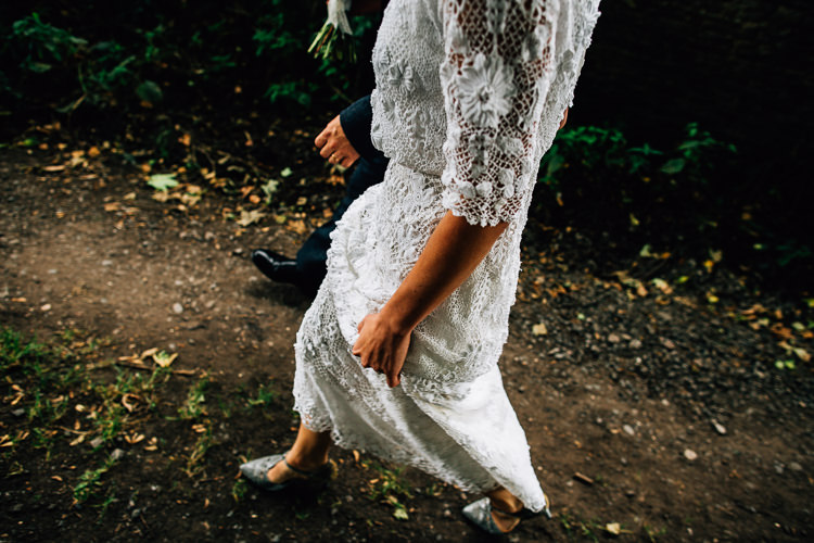 Vintage Lace Dress Gown Bride Bridal Rustic Relaxed Seasonal Floral Barn Wedding https://www.faircloughphotography.co.uk/