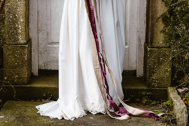 Bouquet Ribbons Beautiful Countryside Wedding Ideas Inspiration http://www.georginabrewster.com/