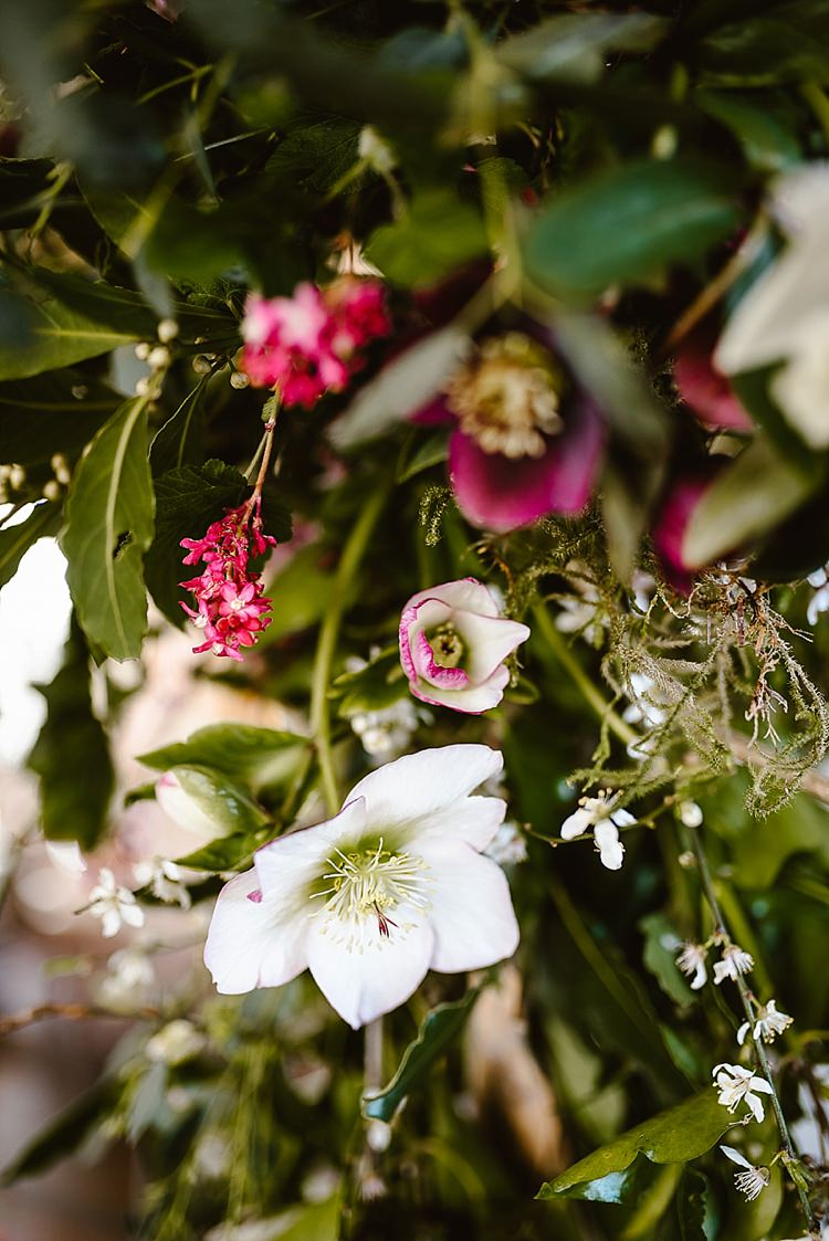 Flowers Spring Cream Red Hellebores Blossom Foliage Beautiful Countryside Wedding Ideas Inspiration http://www.georginabrewster.com/