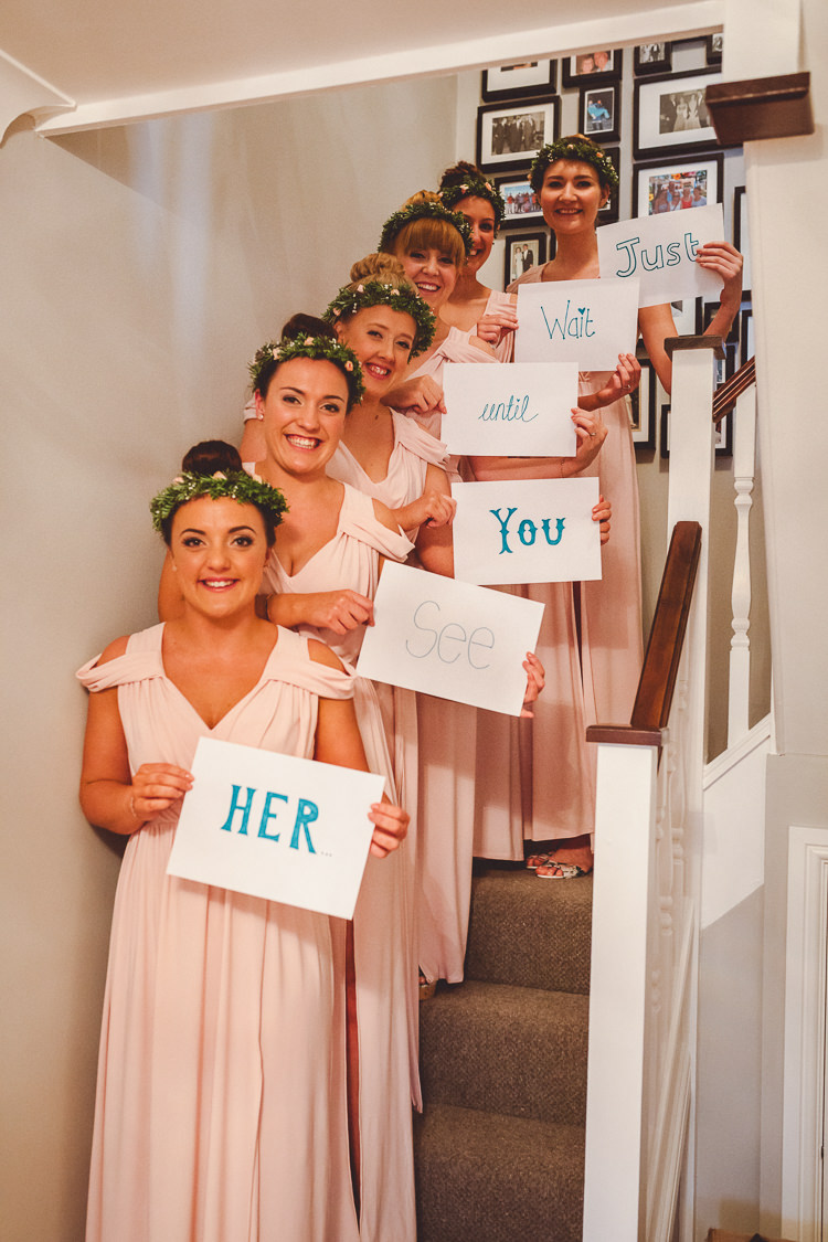 Just Wait Until You See Her Bridesmaids Sign Rustic Homemade Country Tipi Wedding http://www.pottersinstinctphotography.co.uk/