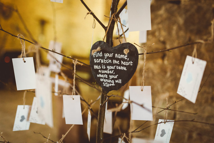 Scratch Card Seating Plan Table Chart Tree Rustic Homemade Country Tipi Wedding http://www.pottersinstinctphotography.co.uk/