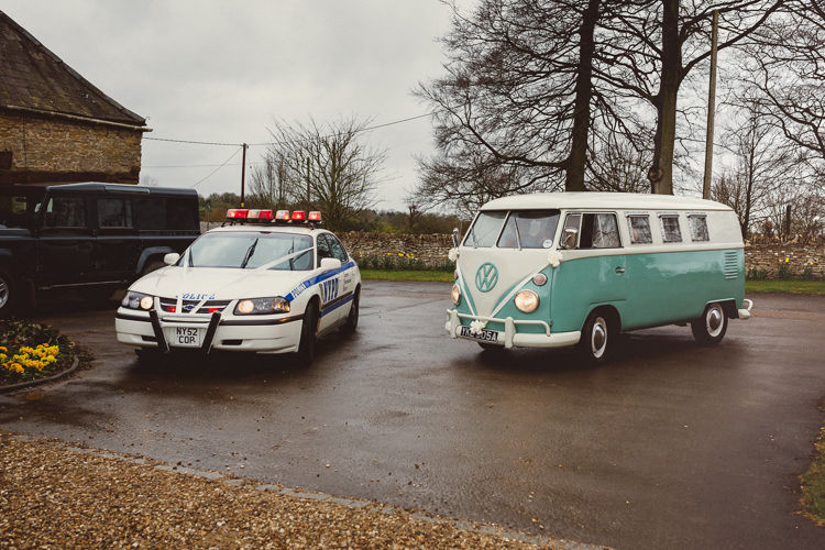 NYPD Car Transport VW Campervan Rustic Homemade Country Tipi Wedding http://www.pottersinstinctphotography.co.uk/