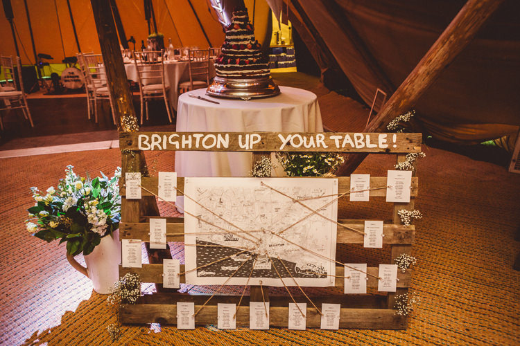 Table Plan Seating Chart Wooden Pallet Rustic Homemade Country Tipi Wedding http://www.pottersinstinctphotography.co.uk/