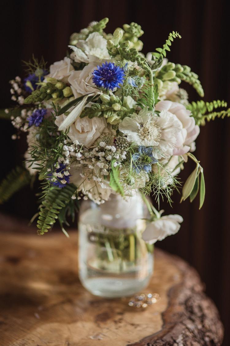 Cornflower Bouquet UK British Seasonal Home Grown Wedding Flowers http://www.angelawardbrown.com/