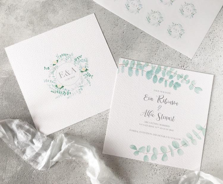 Sugar and Spice Designs Stationery Wedding Invitations