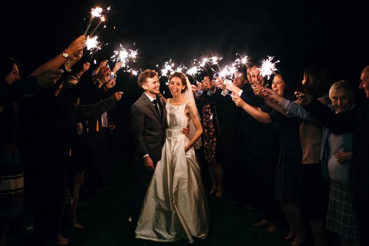 Sparklers Bride Groom Minimal Botanical Copper Greenery Wedding http://www.frecklephotography.co.uk/