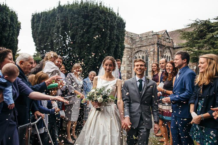 Confetti Throw Bride Groom Minimal Botanical Copper Greenery Wedding http://www.frecklephotography.co.uk/