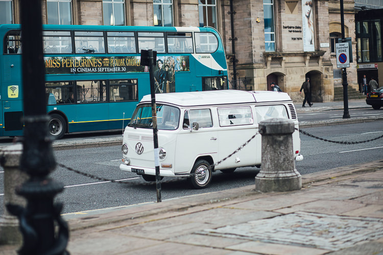 VW Camper Van Transport Stylish Lakeside City Wedding http://www.struthphotography.com/