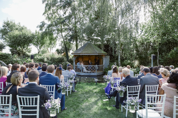 South Farm Outdoor Ceremony UK Pretty Purple Pastels Country Wedding http://www.nataliejweddings.com/