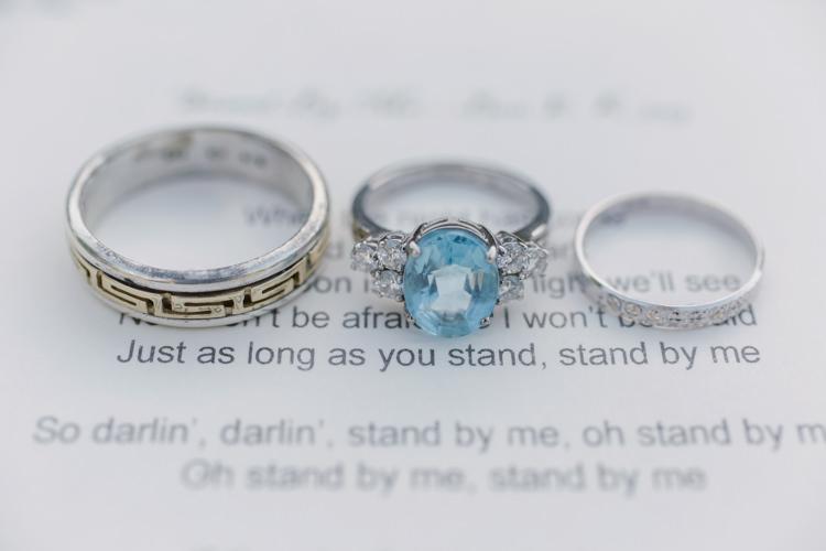 Aquamarine Ring Engagement Diamond Pretty Purple Pastels Country Wedding http://www.nataliejweddings.com/