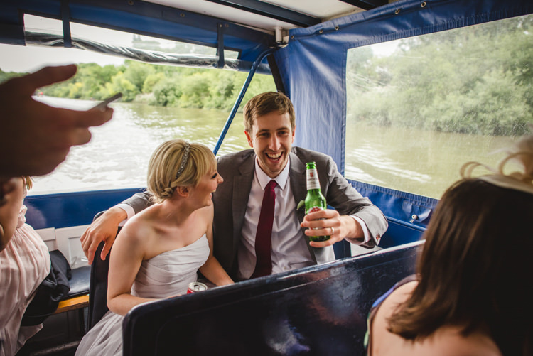 Boat Transport River Crafty Fun Personal Arts Centre Wedding http://www.sophieduckworthphotography.com/