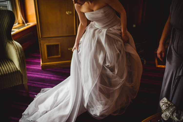 Grey Vera Wang Dress Gown Bride Bridal Strapless Tulle Crafty Fun Personal Arts Centre Wedding http://www.sophieduckworthphotography.com/