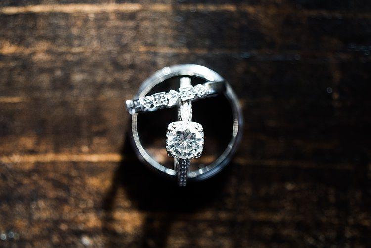 Rings Diamond Engagement Romantic Industrial Studio Loft Georgia Wedding http://krisandraevans.com/