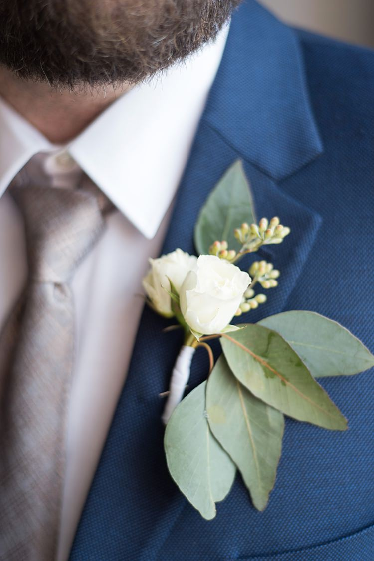 Buttonhole Greenery Groom Romantic Industrial Studio Loft Georgia Wedding http://krisandraevans.com/