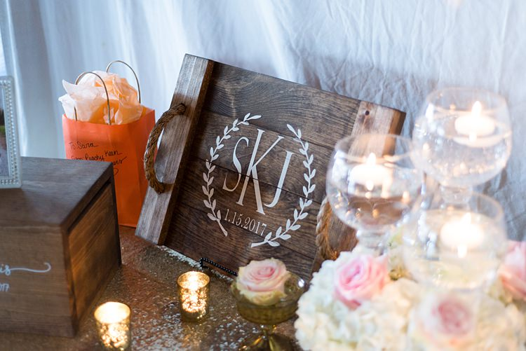Decoration Candles Guestbook Romantic Industrial Studio Loft Georgia Wedding http://krisandraevans.com/