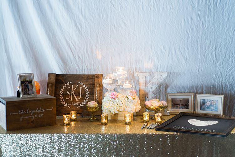 Guestbook Table Candles Decoration Romantic Industrial Studio Loft Georgia Wedding http://krisandraevans.com/