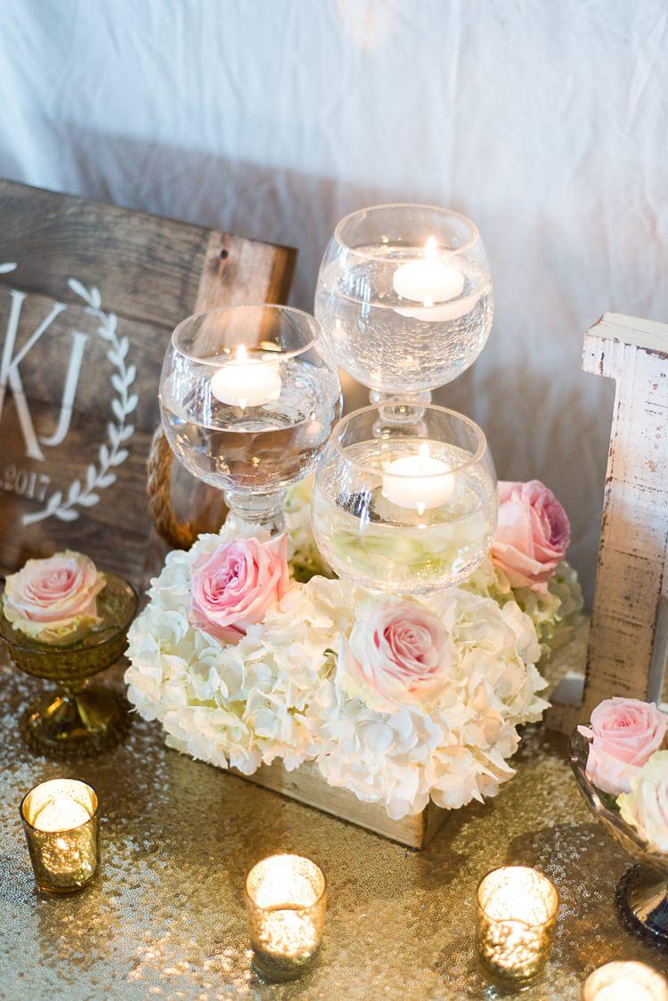 Tealights Candles Decoration Romantic Industrial Studio Loft Georgia Wedding http://krisandraevans.com/