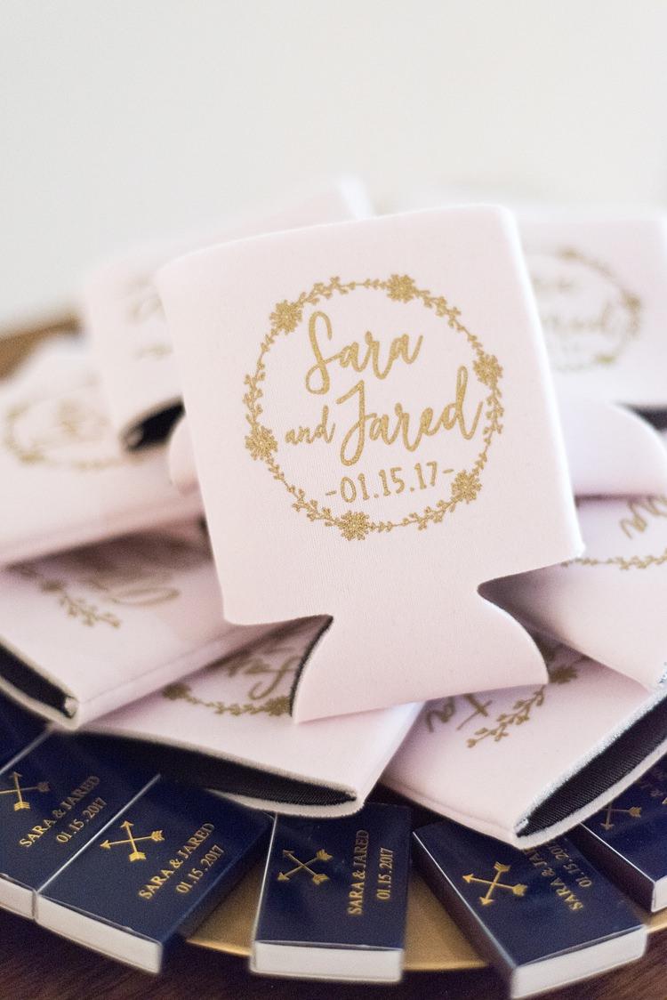 Favours Personalised Matches Romantic Industrial Studio Loft Georgia Wedding http://krisandraevans.com/