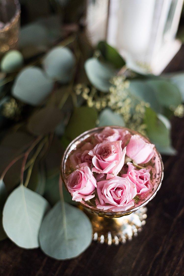 Roses Petals Romantic Industrial Studio Loft Georgia Wedding http://krisandraevans.com/