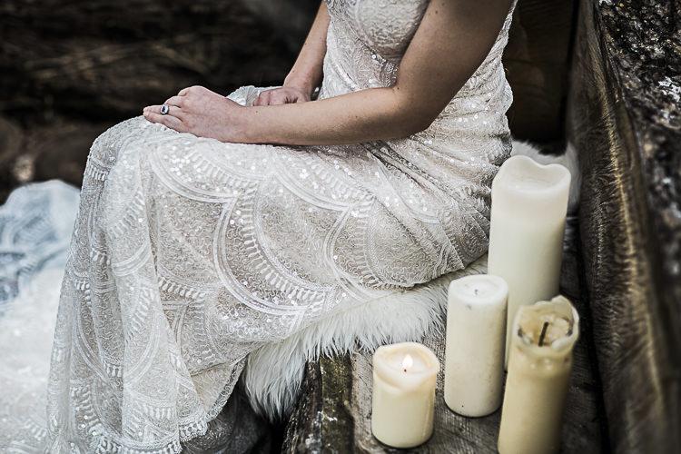 Sequin Beaded Dress Gown Bride Bridal Bohemian Macramé Woodland Wedding Ideas https://samieleephotography.com/